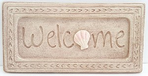 11.75 INCH  SHELL WELCOME SIGN