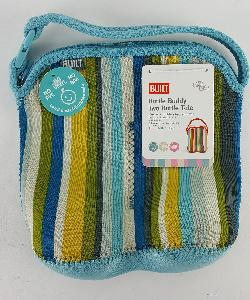 BOTTLE BUDDY TOTE BLUE STRIPE