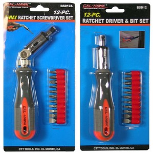 12PC RATCHET DRIVER & BIT