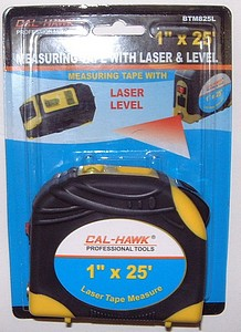 1 X 25 FOOT  TAPE MEAS LASER LEVEL