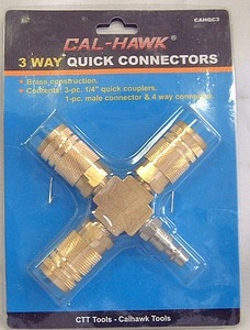 3 WAY QUICK CONNECTORS