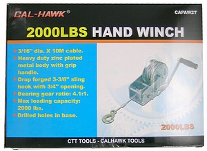 2000LB HAND WINCH-CABLE