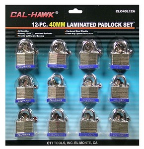 12PC 40MM LOCK KEY ALIK