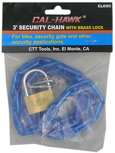 3 FOOT  SECURITY CHAIN W/ 40 LOCK