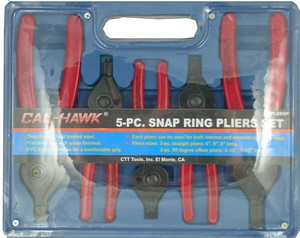 5PC SNAP RING PLIER SET