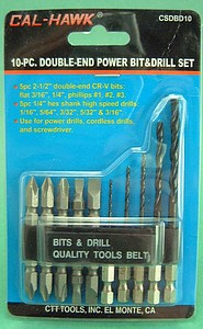 10 PC DOUBLE END DRILL BIT  0