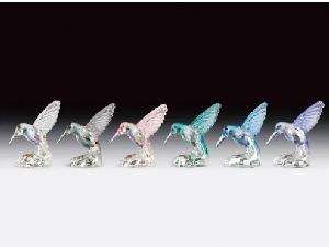 12 ASST. GLASS HUMMINGBIRD.  12 PCS/BOX