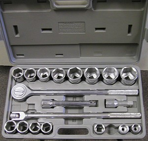 21PC 3/4 INCH  DRIVE SAE SOCKET SET 6 PT