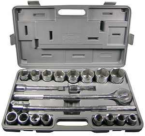 21PC 3/4 INCH  DRIVE METRIC SOCKET SET