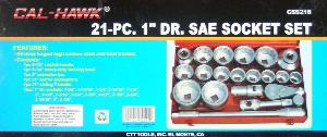 21pc 1 INCH DRIVE SOCKET SET