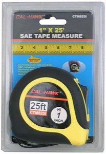 1 INCH  X 25 FOOT  TAPE MEASURE SAE