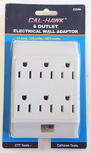 6 OUTLET PLUG ADAPTER