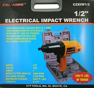 1/2 INCH  IMPACT WRENCH ELECTRIC