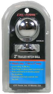 "2"" TRAILER HITCH BALL WITH 1 INCH X 3 INCH BOLT"