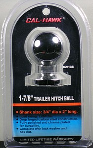 HITCH BALL-1 7/8 INCH  X 3/4 INCH  BOLT