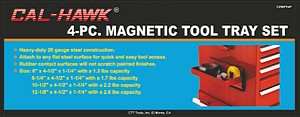 4PC MAGNETIC TOOL TRAY