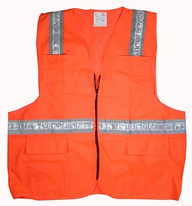 ORANGE SAFETY VEST-LG