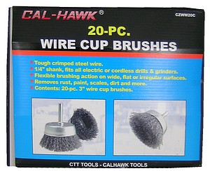 20PC 3 INCH  WIRE CUP WHEEL
