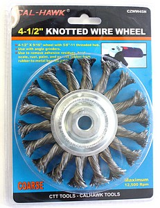 4 1/2 INCH  WIRE WHL KNOTTED