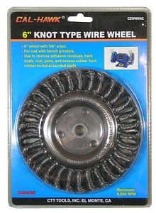 6 INCH  KNOT WIRE WHEEL