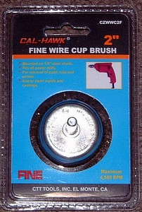 2 INCH  FINE WIRE CUP BRUSH
