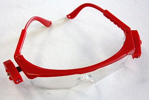 SAFETY GLASS W/LED LIGHT RED