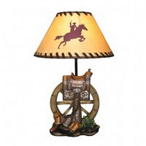 HAPPY TRAILS COWBOY LAMP