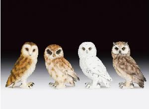 4 ASSORTED OWL - SET OF 4