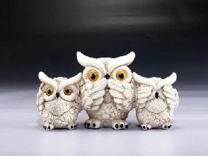 SEE, SPEAK AND HEAR NO EVIL WHITE OWLS