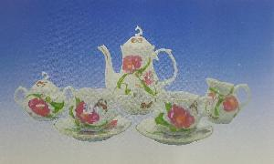 MINIATURE TEA SET - FLOWERS 9PC