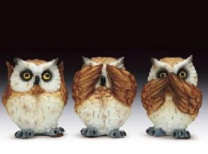 OWLS 3 EVILS (SET OF 3)