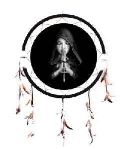 "24"" DREAMCATCHER GOTHIC PRAYE"