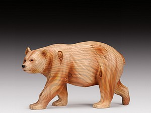 WOOD LIKE CARVING BEAR