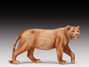 WOOD LIKE CARVING TIGER