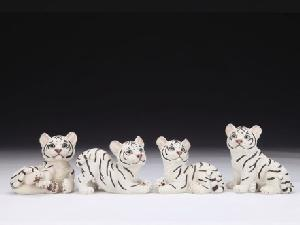12 ASSORTED MINIATURES - WHITE TIGER CUBS