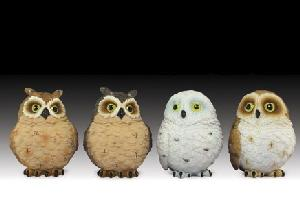 12 ASSORTED MINIATURES - OWL CHICKS