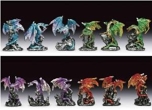 12 ASSORTED MINIATURES - DRAGONS