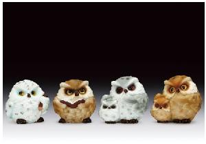 12 ASSORTED MINIATURES - OWLS