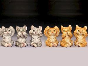 12PC MINIATURE ASSORTMENT - THREE EVILS CATS