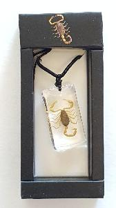 REAL BROWN SCORPION NECKLACE