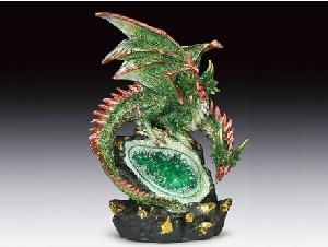 2 HEADED DRAGON/GEODE LED STATUE