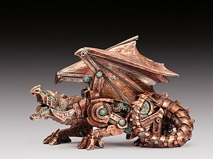 2 STEAMPUNK DRAGON COPPER
