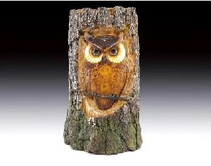 OWL IN LOG NIGHT LIGHT