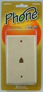 WALL MOUNT PHONE JACK - IVORY