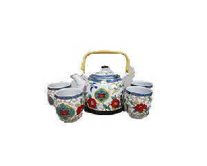 5PC CERAMIC TEASET FLOWER