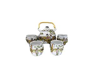 5PC CERAMIC TEASET BEAUTY