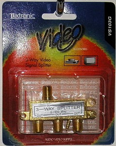 VIDEO SPLITTER 3WAY CARDED