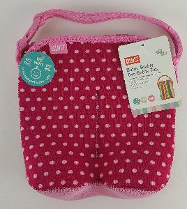 BOTTLE BUDDY TOTE PINK DOTS