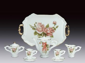 MINIATURE TEA SET - ROSE PATTERN