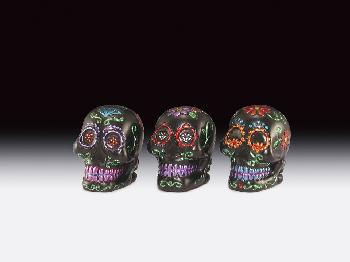 12 ASSORTED MINIATURES - BLACK SUGAR SKULLS
